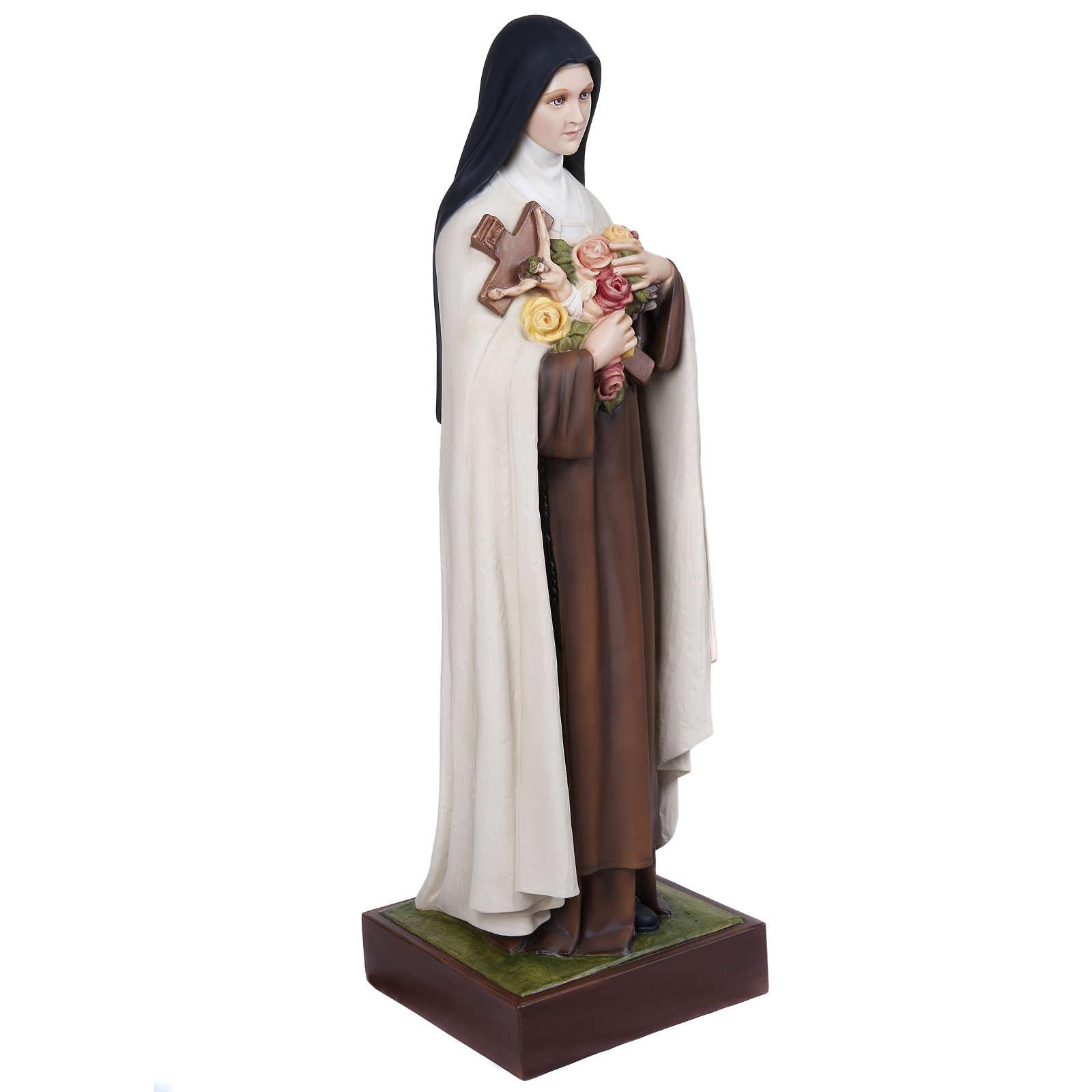 St Thérèse statue fibre de verre 100 cm 4