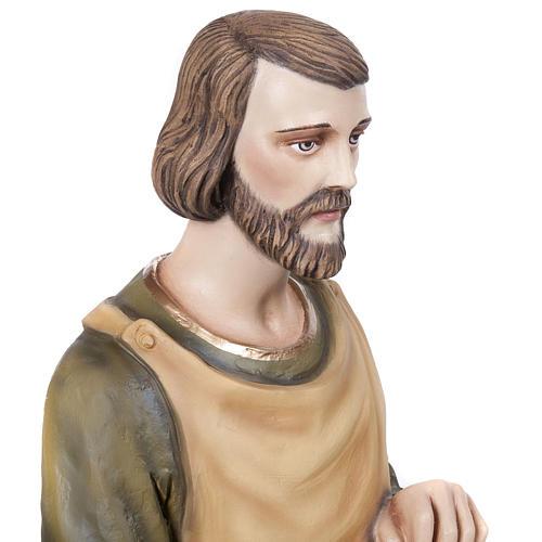 Saint Joseph the Carpenter,  fiberglass statue, 80 cm 3
