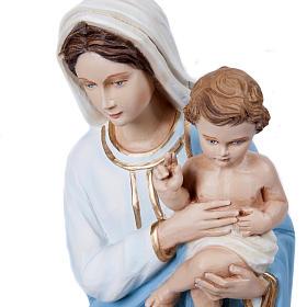 Virgen Mária con Niño 60 cm fibra de vidrio s3
