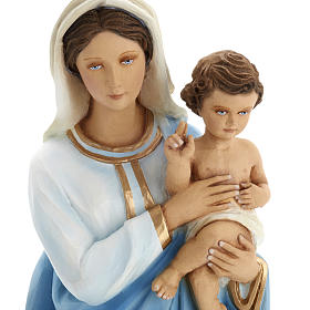 Virgen Mária con Niño 60 cm fibra de vidrio s4