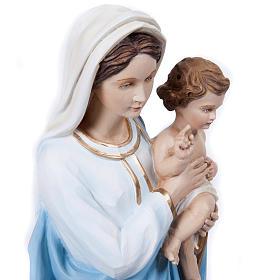 Virgen Mária con Niño 60 cm fibra de vidrio s6