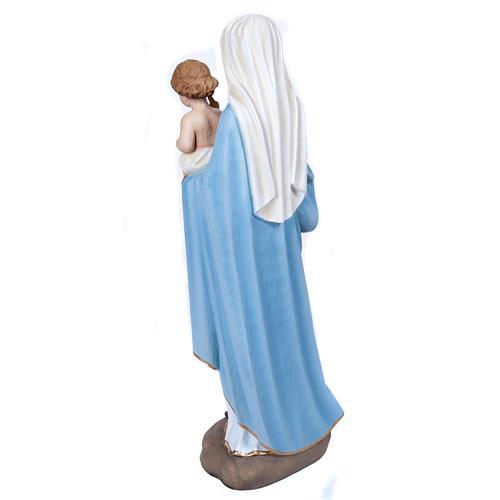 Virgen Mária con Niño 60 cm fibra de vidrio 11