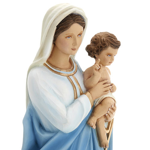 Virgen Mária con Niño 60 cm fibra de vidrio 13