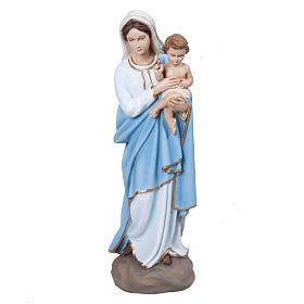 Vierge à l'enfant statue fibre de verre 60 cm s1