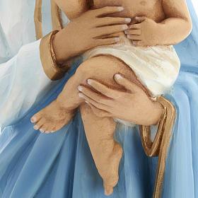 Vierge à l'enfant statue fibre de verre 60 cm s16