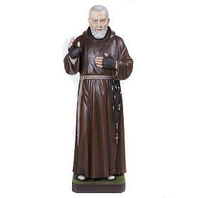 Padre Pio 110 cm en fibra de vidrio s1
