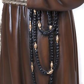 Padre Pio 110 cm en fibra de vidrio s4