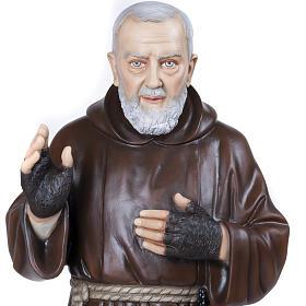 Padre Pio 110 cm en fibra de vidrio s5