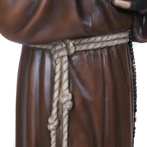 Padre Pio 110 cm en fibra de vidrio 6