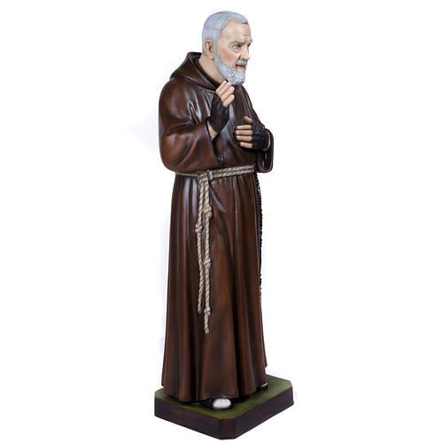 Padre Pio 110 cm en fibra de vidrio 7