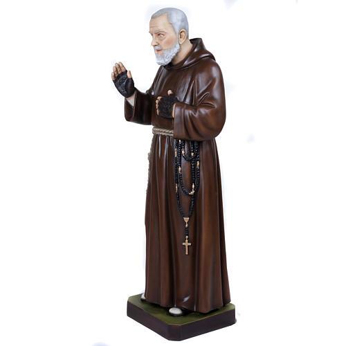 Padre Pio 110 cm en fibra de vidrio 8