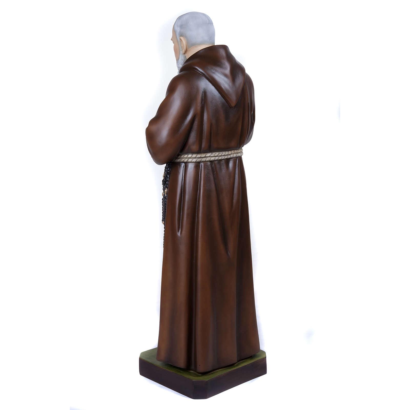 Père Pio statue fibre de verre 110 cm 4