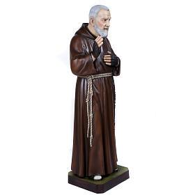 Père Pio statue fibre de verre 110 cm s7