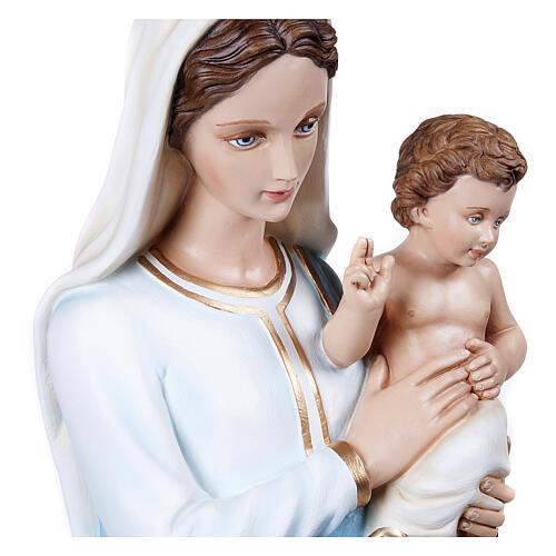 Virgen con el Niño 100 cm en fibra de vidrio 2