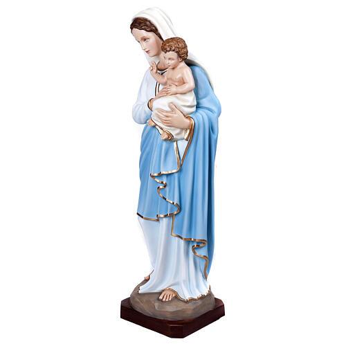 Virgen con el Niño 100 cm en fibra de vidrio 3