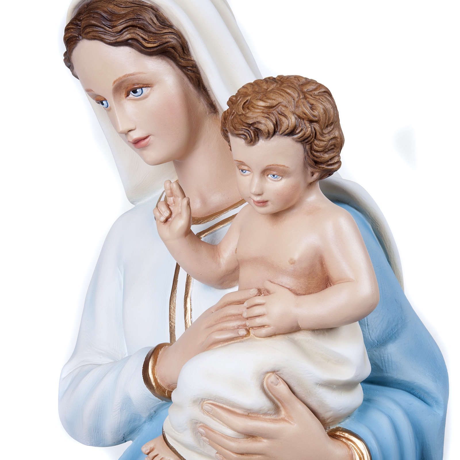 Madonna con Bambino 100 cm fiberglass 4