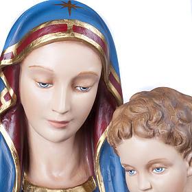 Virgen consolata 130 cm en fibra de vidrio s4