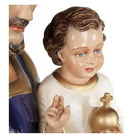 San Giuseppe con Bambino 80 cm fiberglass lucido PER ESTERNO s4