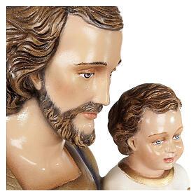 San Giuseppe con Bambino 80 cm fiberglass lucido PER ESTERNO s5
