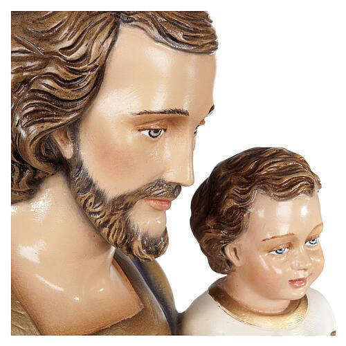 San Giuseppe con Bambino 80 cm fiberglass lucido PER ESTERNO 5