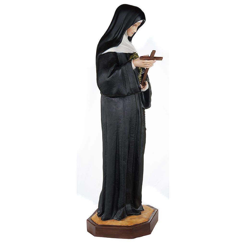 Santa Rita da Cascia 100 cm fiberglass 4