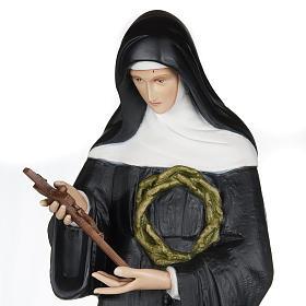 Santa Rita de Cascia 100 cm fibra de vidro