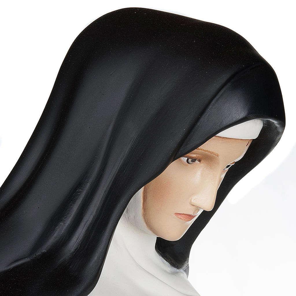 Saint Rita of Cascia,  fiberglass statue, 100 cm 4