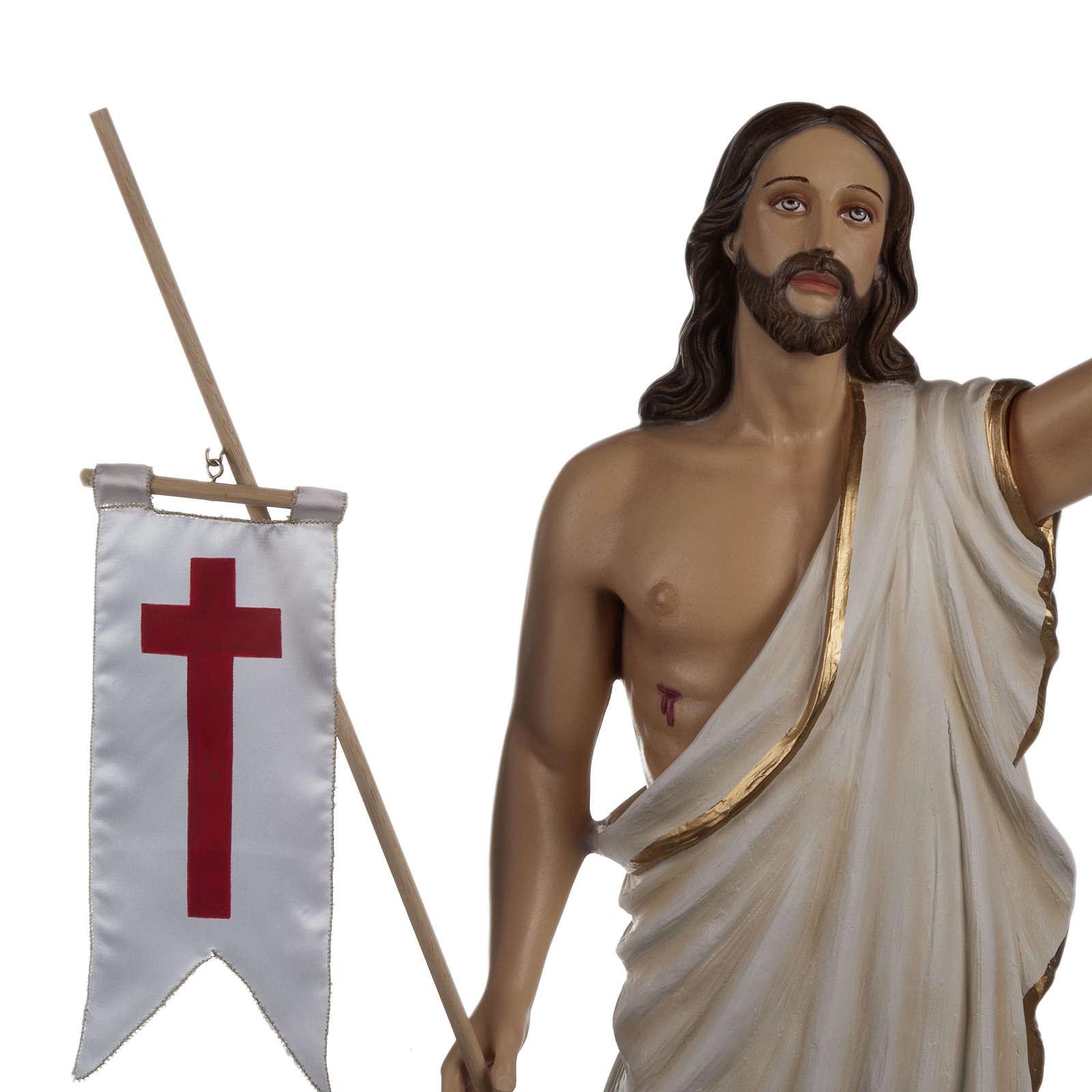 Cristo resucitado 85 cm fibra de vidrio 4