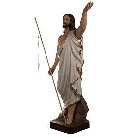 Cristo resucitado 85 cm fibra de vidrio s4