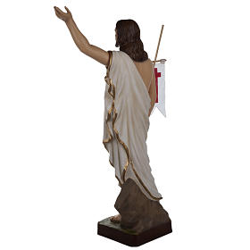 Cristo resucitado 85 cm fibra de vidrio s11