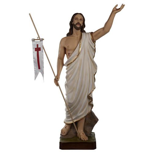 Cristo resucitado 85 cm fibra de vidrio 1