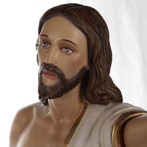 Cristo resucitado 85 cm fibra de vidrio 6
