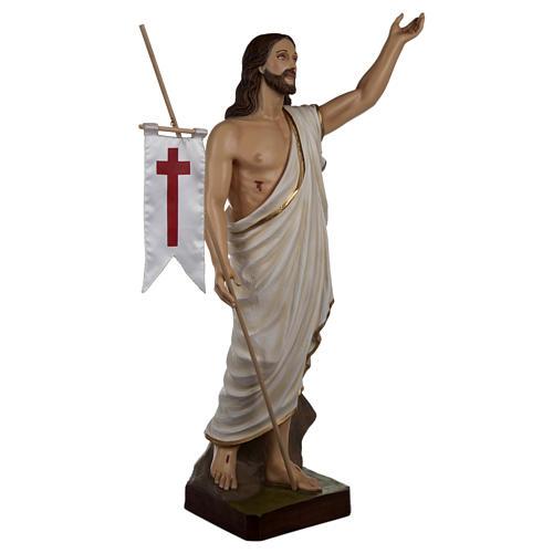 Cristo resucitado 85 cm fibra de vidrio 7