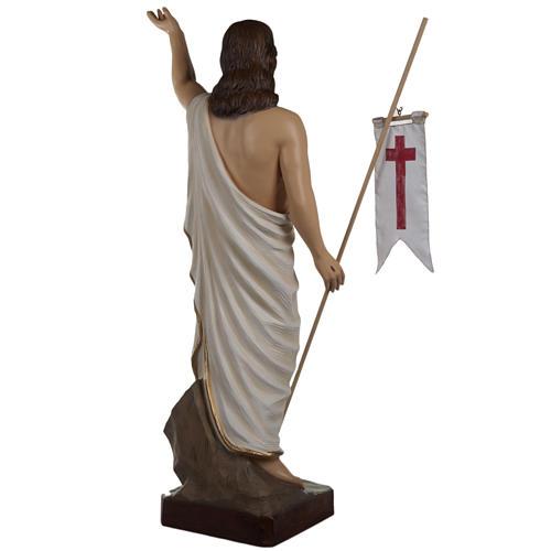 Cristo resucitado 85 cm fibra de vidrio 10