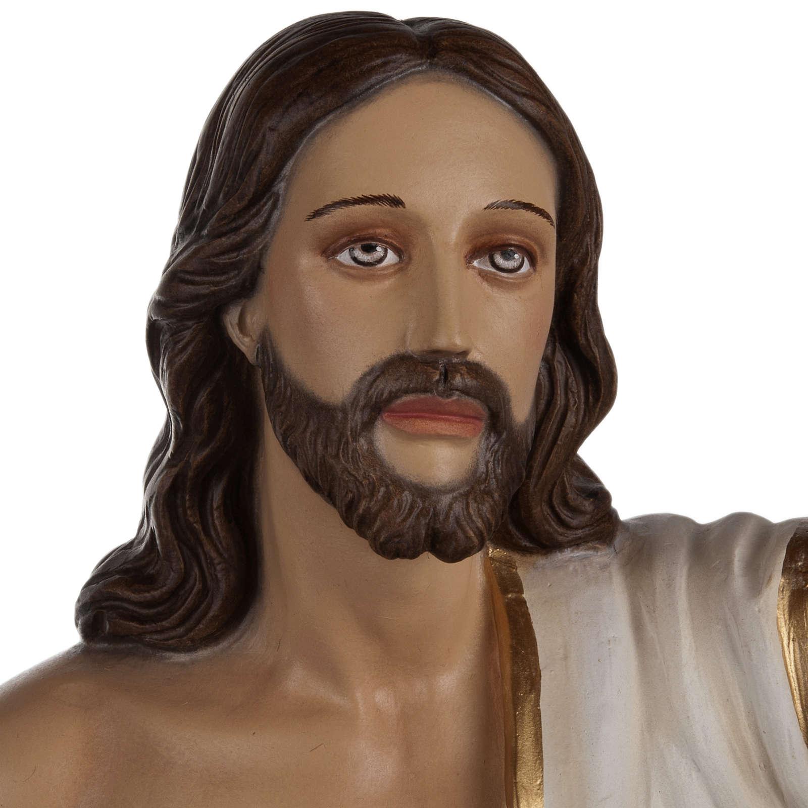 Christ Ressuscité statue fibre de verre 85 cm 4