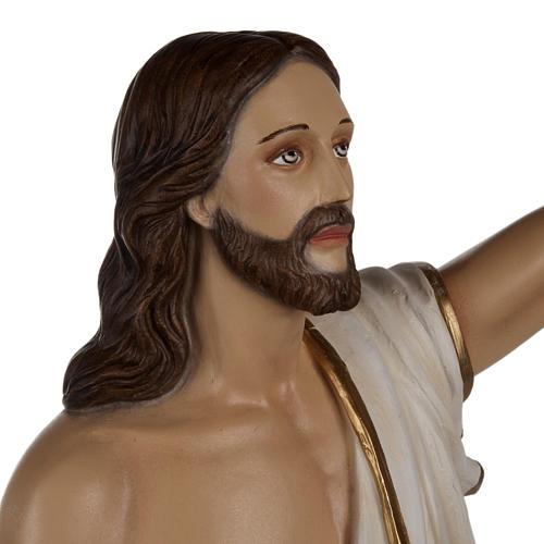 Christ Ressuscité statue fibre de verre 85 cm 8