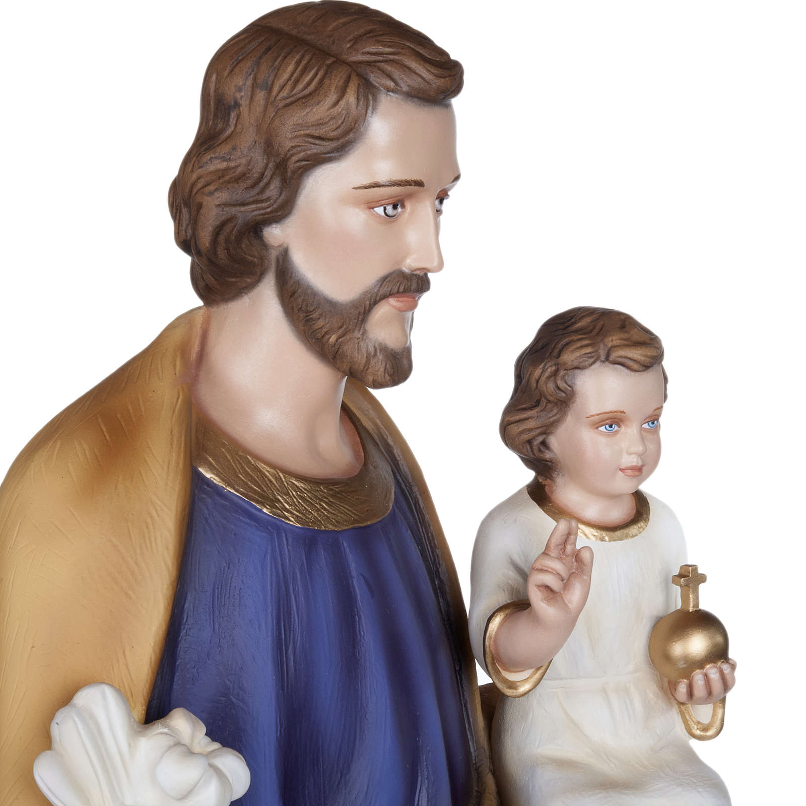 San José con Niño 100 cm fibra de vidrio brillante 4