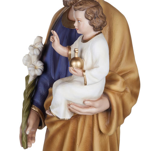 San José con Niño 100 cm fibra de vidrio brillante 10