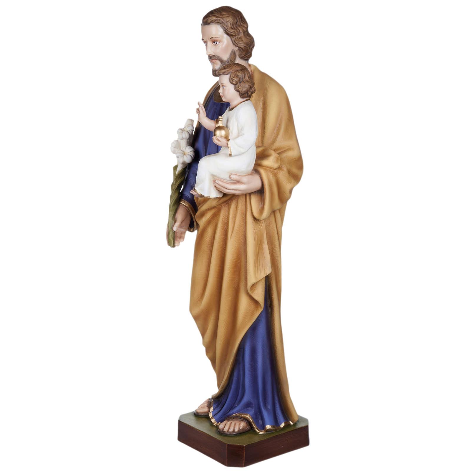 San Giuseppe con Bambino vetroresina 100 cm 4
