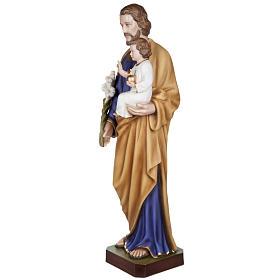 San Giuseppe con Bambino vetroresina 100 cm s9