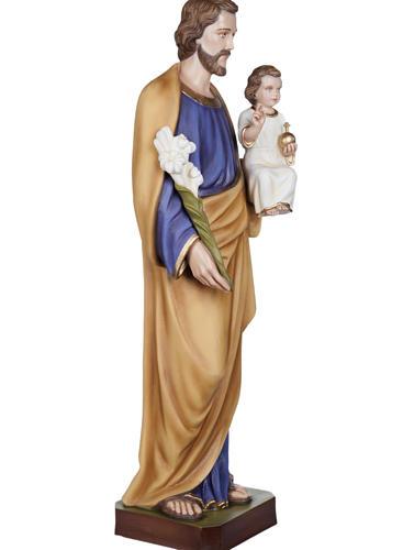 San Giuseppe con Bambino vetroresina 100 cm 7