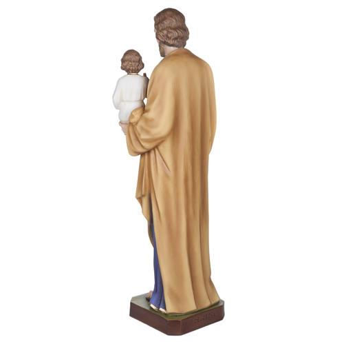 San Giuseppe con Bambino vetroresina 100 cm 11