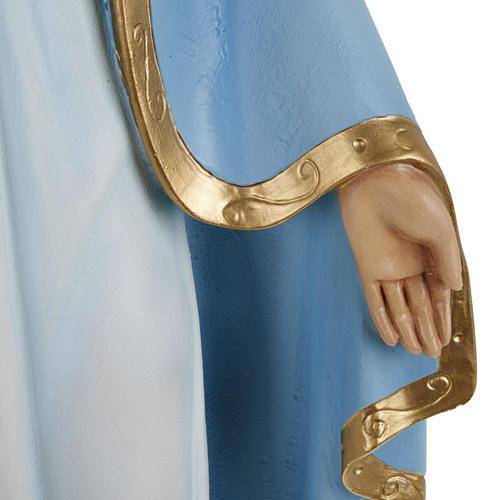 Estatua de la Milagrosa con manto azul 60 cm 3
