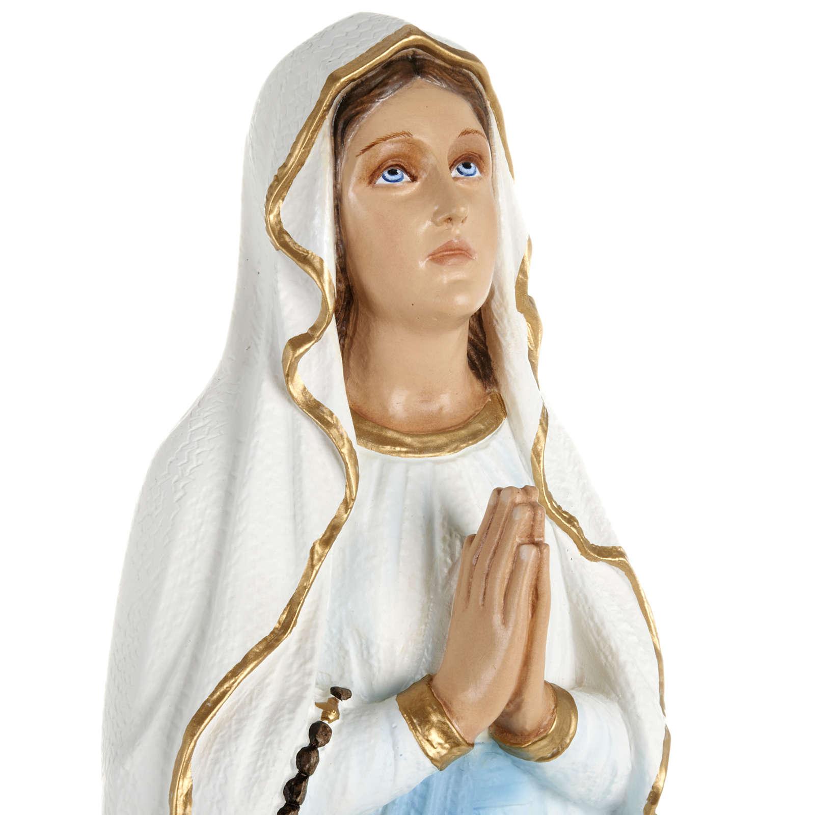 Statua Madonna Lourdes 70 cm fiberglass 4