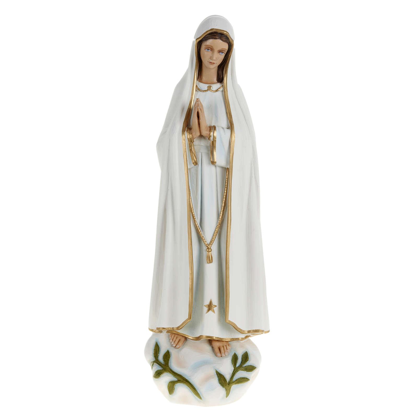 Estatua de la Virgen de Fátima 60 cm en fibra de vidrio 4