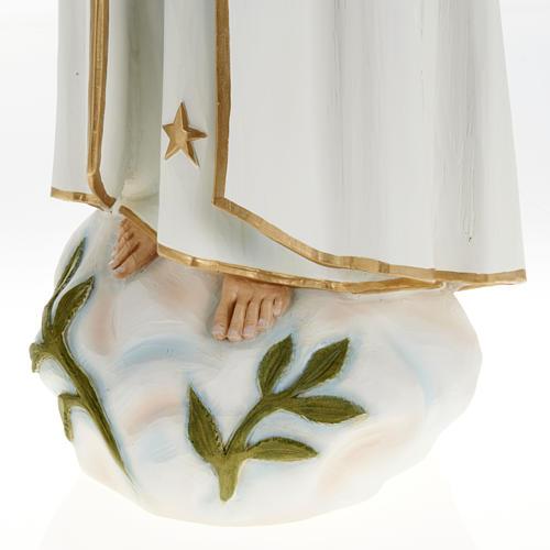 Estatua de la Virgen de Fátima 60 cm en fibra de vidrio 3