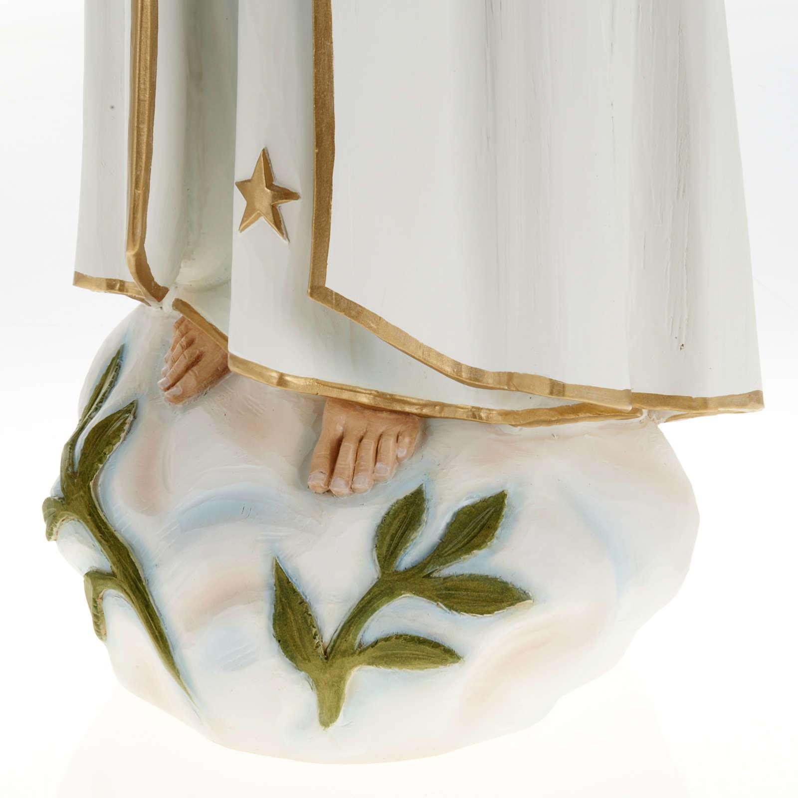 Imagem Nossa Senhora Fátima fibra de vidro 60 cm 4