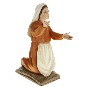 Shepherd children of Fatimain reconstituted marble 35 cm s2