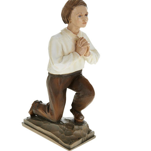 Shepherd children of Fatimain reconstituted marble 35 cm 4