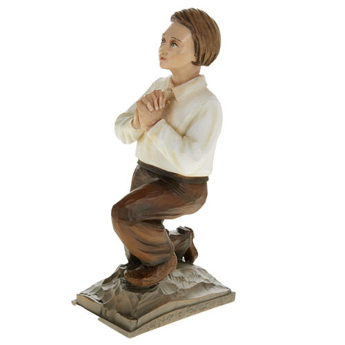 Shepherd children of Fatimain reconstituted marble 35 cm 5